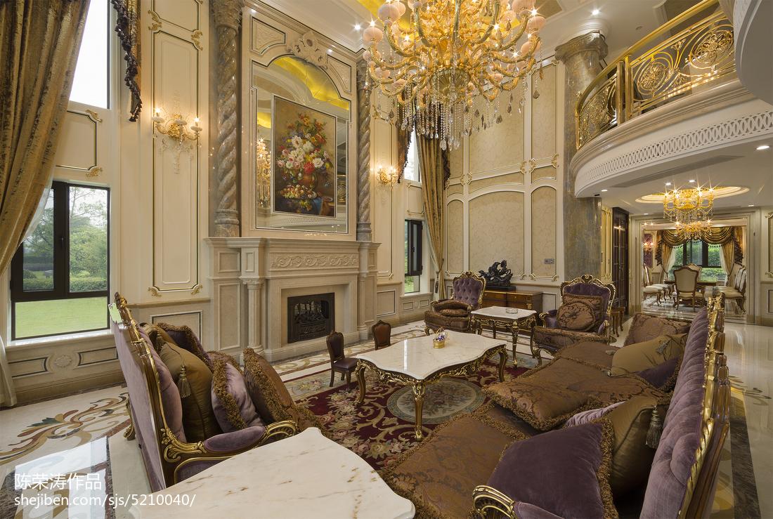 别墅欧式风格壁炉效果图欧式豪华设计图片赏析