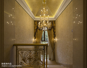 别墅欧式风格楼梯间装修别墅豪宅欧式豪华家装装修案例效果图