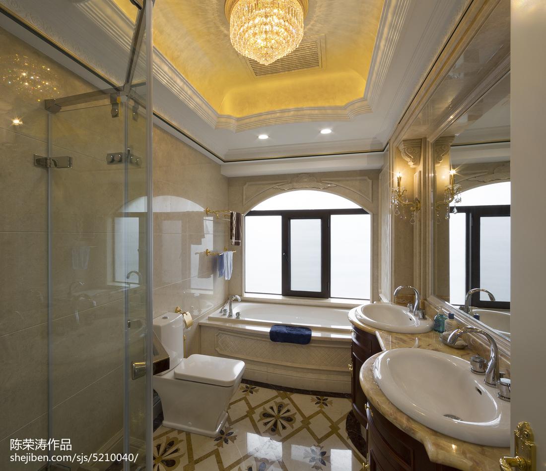 别墅欧式风格卫生间窗户装修欧式豪华设计图片赏析