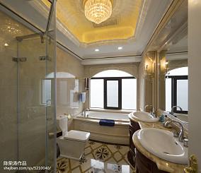 别墅欧式风格卫生间窗户装修别墅豪宅欧式豪华家装装修案例效果图