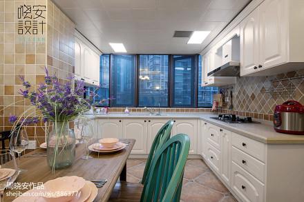 大气106平混搭三居厨房设计美图餐厅