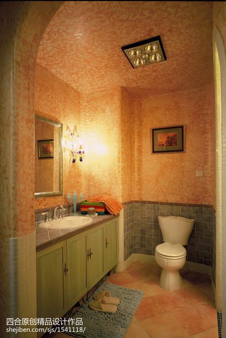 精美面积125平别墅卫生间地中海装修实景图片欣赏卫生间