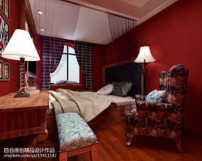甘雨胡同老房改造地中海卧室1图地中海设计图片赏析