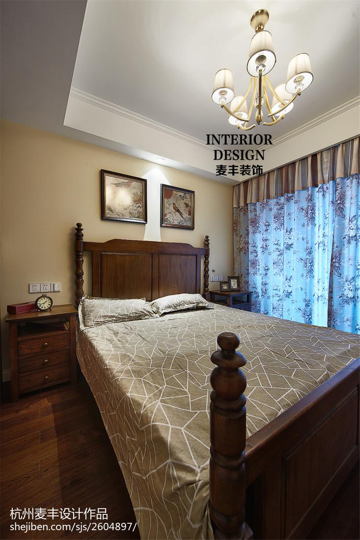 简约美式卧室吊顶设计卧室美式经典卧室设计图片赏析