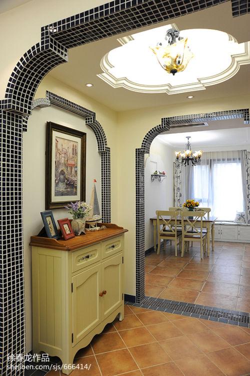 精选面积108平地中海三居餐厅设计效果图厨房2图