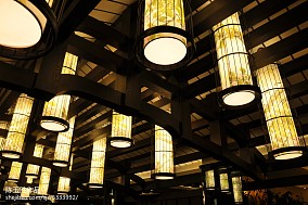 餐厅博古架效果图