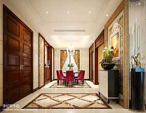 2018面积135平别墅餐厅欧式装饰图片151-200m²别墅豪宅欧式豪华家装装修案例效果图