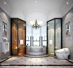 精选143平方欧式别墅卫生间实景图片151-200m²别墅豪宅欧式豪华家装装修案例效果图
