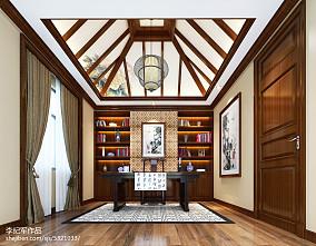 精美面积113平别墅书房欧式装修效果图片151-200m²别墅豪宅欧式豪华家装装修案例效果图