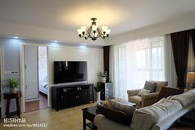 精选91平米三居客厅美式装修图片大全