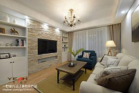 精选75平米二居客厅美式装饰图片