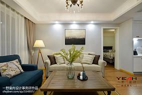 精美90平米二居客厅美式装修实景图片