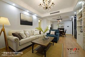 201887平米二居客厅美式装修效果图片大全