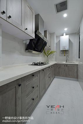 简约美式厨房装修设计效果图餐厅美式经典设计图片赏析