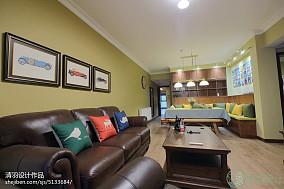 2018大小78平混搭二居客厅实景图片