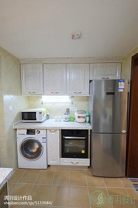 温馨70平混搭二居厨房装修图片