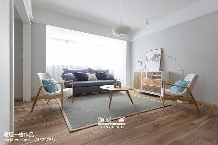 简洁119平欧式三居装潢图