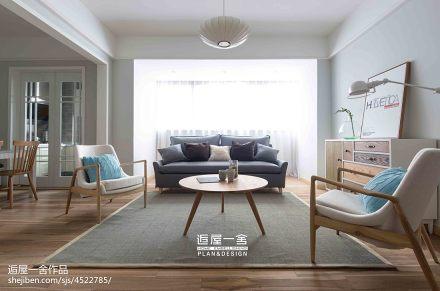 明亮90平欧式三居实景图三居欧式豪华家装装修案例效果图