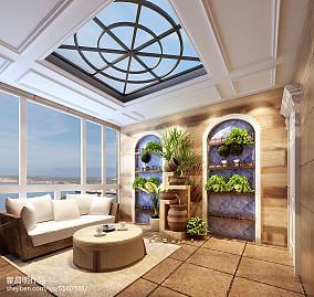 华丽886平欧式别墅阳台实拍图