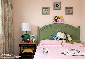 温馨97平美式三居卧室装修美图卧室美式经典设计图片赏析