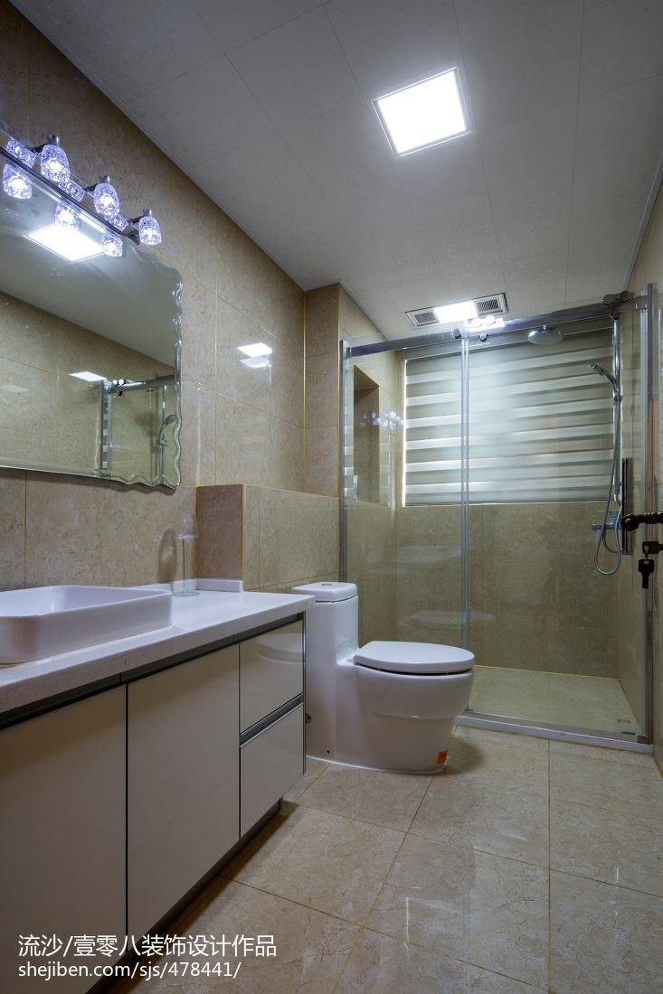 古典中式卫生间吊顶效果图卫生间中式现代卫生间设计图片赏析