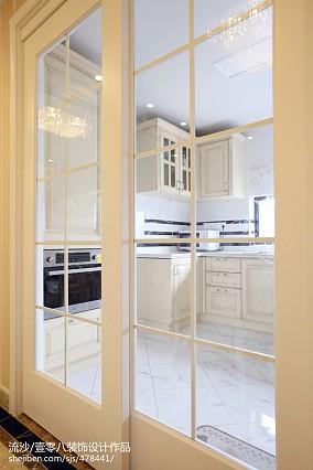 2018精选面积127平欧式四居厨房效果图四居及以上欧式豪华家装装修案例效果图