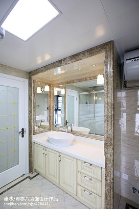 精美面积142平欧式四居卫生间装修效果图片大全四居及以上欧式豪华家装装修案例效果图