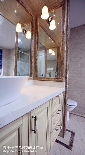 浪漫91平欧式四居卫生间设计图四居及以上欧式豪华家装装修案例效果图