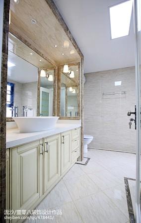精选面积125平欧式四居卫生间效果图片四居及以上欧式豪华家装装修案例效果图