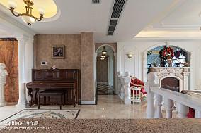 2018精选面积91平欧式三居休闲区装饰图片欣赏三居欧式豪华家装装修案例效果图