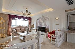 精美95平米三居客厅欧式欣赏图三居欧式豪华家装装修案例效果图