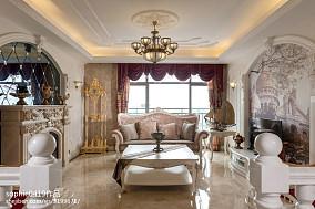 2018大小103平欧式三居客厅装修实景图三居欧式豪华家装装修案例效果图