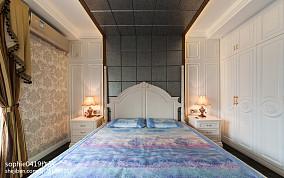简欧卧室背景墙效果图三居欧式豪华家装装修案例效果图