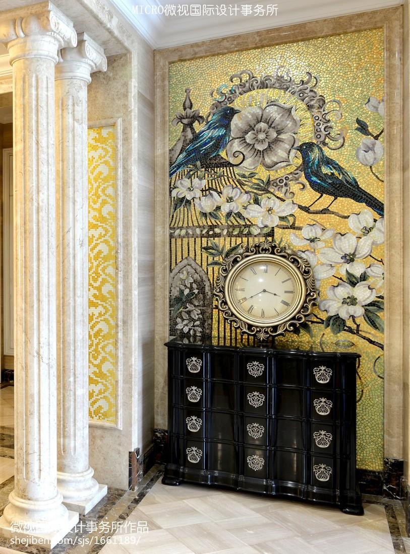 2018新古典别墅玄关装修图片欣赏玄关美式经典玄关设计图片赏析
