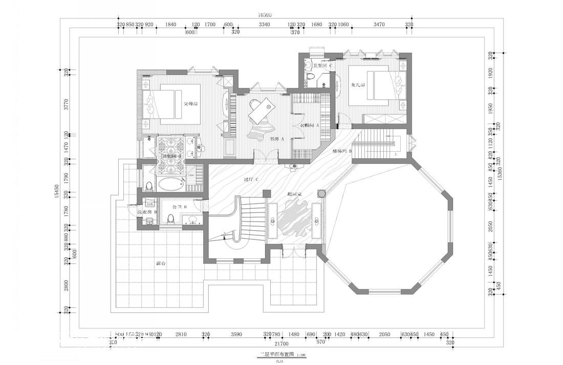 质朴599平新古典别墅客厅装修美图客厅美式经典客厅设计图片赏析