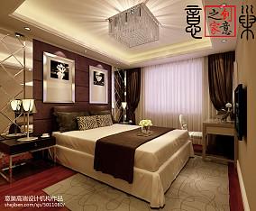 优雅94平现代四居卧室设计图卧室现代简约设计图片赏析