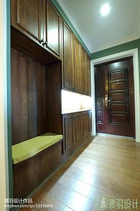 精选面积94平美式三居玄关效果图片欣赏151-200m²三居美式经典家装装修案例效果图