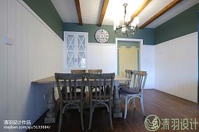 精选102平方三居餐厅美式欣赏图151-200m²三居美式经典家装装修案例效果图