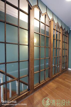 热门三居过道美式装修图151-200m²三居美式经典家装装修案例效果图