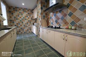 精选面积94平美式三居厨房效果图片大全151-200m²三居美式经典家装装修案例效果图