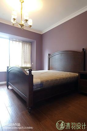 2018精选面积98平美式三居卧室装饰图片欣赏151-200m²三居美式经典家装装修案例效果图