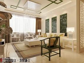 2018精选大小101平中式三居客厅装修效果图