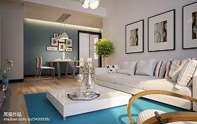 现代小客厅电视背景墙