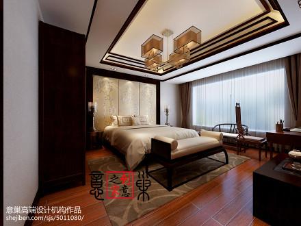 天津碧桂园雅致新中式卧室
