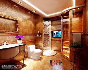 天津碧桂园新贵古典卫生间美式经典设计图片赏析