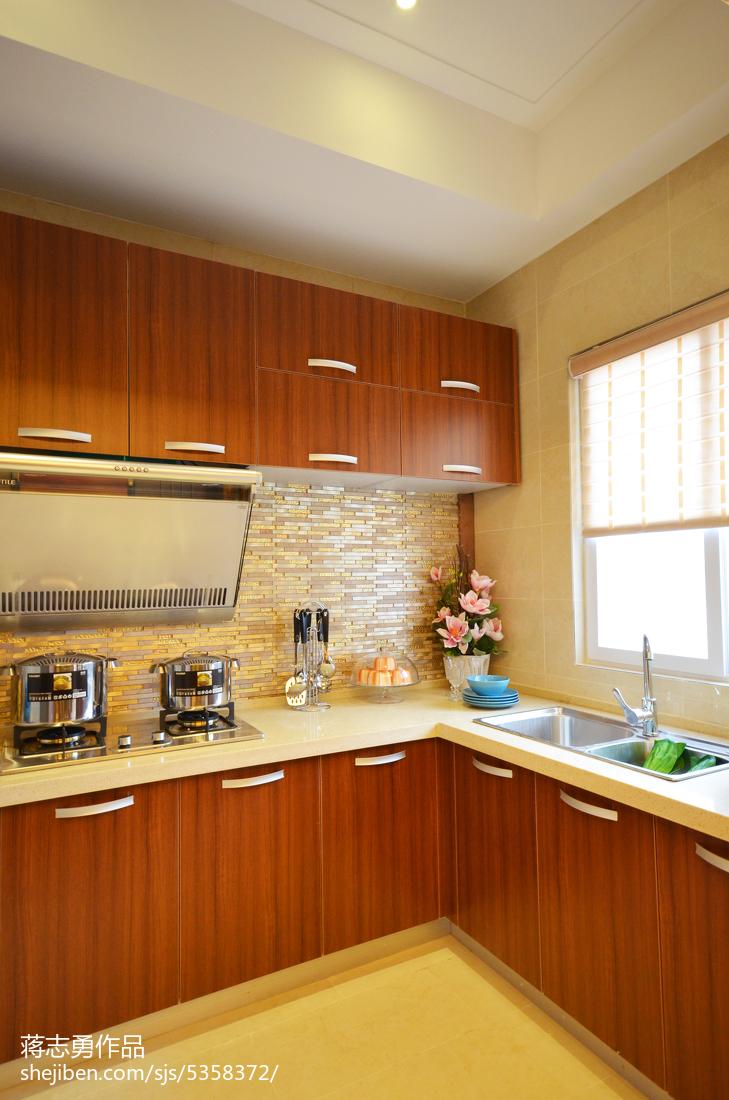 美式厨房整体橱柜样板房设计设计图片赏析