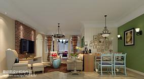 美式新古典120平米三室两厅效果图