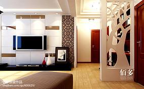 精选106平大小客厅三居现代装修设计效果图片