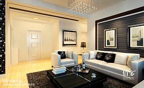 精美80平方二居客厅现代装修实景图