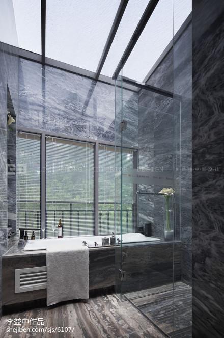 欧式样板间卫浴装修效果图卫生间